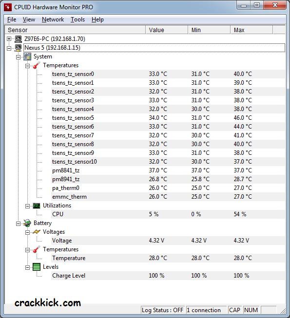 CPUID HWMonitor Pro 1.46 Crack License Key Free Download 2021
