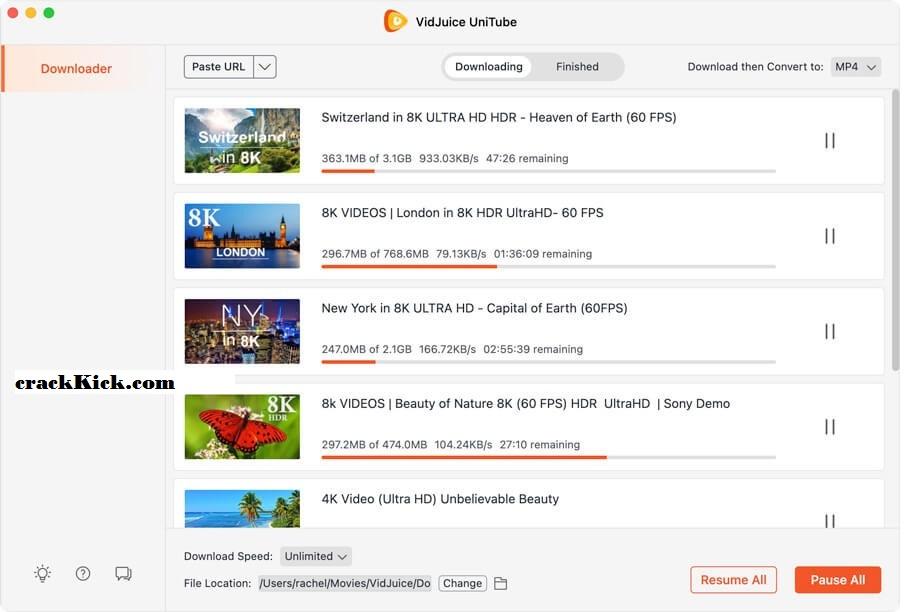 VidJuice UniTube 3.7.0 Crack With License Key Free Download [Win/Mac]
